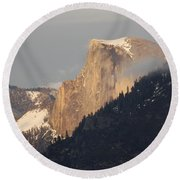 Sunlit Half Dome Round Beach Towel