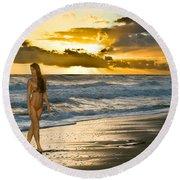 Sunna Round Beach Towel