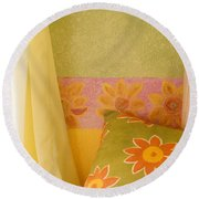 Sunny Morning Round Beach Towel by Jerry McElroy