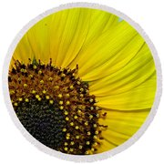 Sunny Summer Sunflower Round Beach Towel