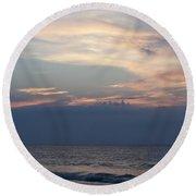 Sunrise And Surf Round Beach Towel