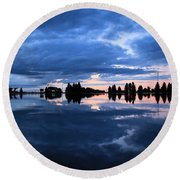 Sunrise At Lake Tahoe Round Beach Towel
