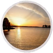 Sunrise At St Michaels Round Beach Towel
