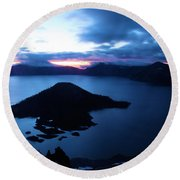 Sunrise At The Crater Round Beach Towel