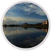 Sunrise At The Outer Banks Round Beach Towel