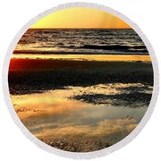 Sunrise In Jekyll Island Round Beach Towel