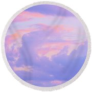 Sunrise In Pastels Round Beach Towel