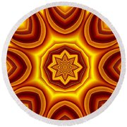 Sunrise Kaleido Round Beach Towel