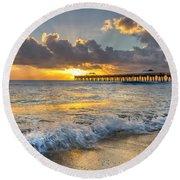 Sunrise Lights Round Beach Towel