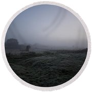 Sunrise Mist Round Beach Towel