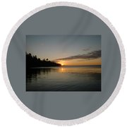 Sunrise On Superior Round Beach Towel