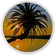 Sunrise On The Loop Round Beach Towel