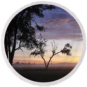 Sunrise On The Masai Mara Round Beach Towel