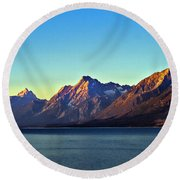 Sunrise Over Jackson Lake Round Beach Towel