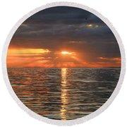 Sunrise Over Ripples Round Beach Towel