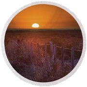 Sunrise Over The Pampa Of Argentina San Round Beach Towel