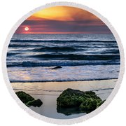 Sunrise Serenity Round Beach Towel
