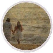 Sunrise Wedding Round Beach Towel