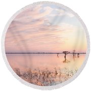 Sunset - Pretty In Pink Round Beach Towel