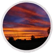 Sunset 2   09 22 12 Round Beach Towel