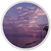 Sunset At Fountianbleu State Park Round Beach Towel