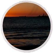 Sunset At Freemantle Round Beach Towel