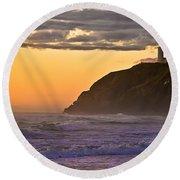 Sunset At North Head II Round Beach Towel