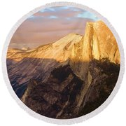 Sunset At The Dome Round Beach Towel