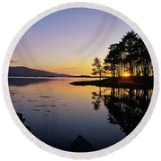 Sunset At The Lake, Kenmare, Ring Of Round Beach Towel