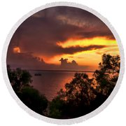 Sunset At The Top-end Round Beach Towel