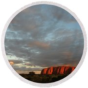 Sunset At Uluru Round Beach Towel
