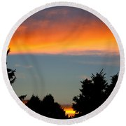 Sunset Charlestown In July Round Beach Towel