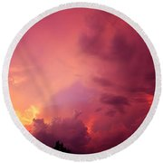 Sunset Color Round Beach Towel