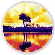 Sunset Colour Round Beach Towel
