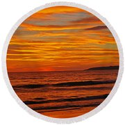 Sunset Colours Round Beach Towel
