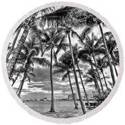 Sunset Grove At Palm Beach Round Beach Towel