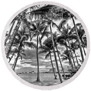 Sunset Grove At Palm Beach Round Beach Towel