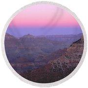 Sunset Hues At Grand Canyon Round Beach Towel