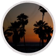 sunset in Califiornia Round Beach Towel by Ralf Kaiser