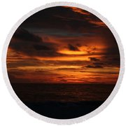 Sunset In Naples Round Beach Towel
