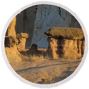 Sunset In Paria Canyon Wilderness Round Beach Towel