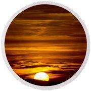Sunset In Tuscany Round Beach Towel