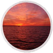 Sunset Iv Round Beach Towel