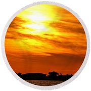 Sunset Ix Round Beach Towel