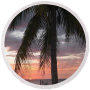 Sunset Montego Bay Round Beach Towel