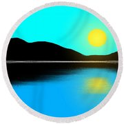 Sunset No. 2 Round Beach Towel