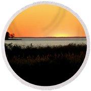 Sunset On The Chesapeake Round Beach Towel