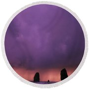Sunset Over Needles On The Ocean At Round Beach Towel