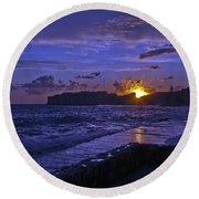 Sunset Over The Adriatic Round Beach Towel