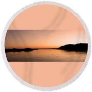 Sunset Over The Danube ... Round Beach Towel